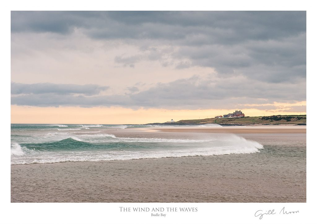 Wind and waves at Budle Bay, Northumberland